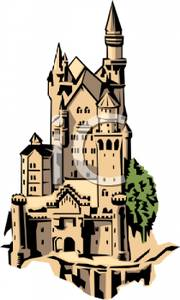 Clip art image a. Palace clipart tall castle
