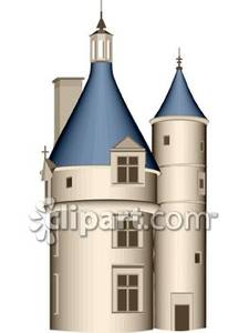 Realistic towers royalty free. Palace clipart tall castle