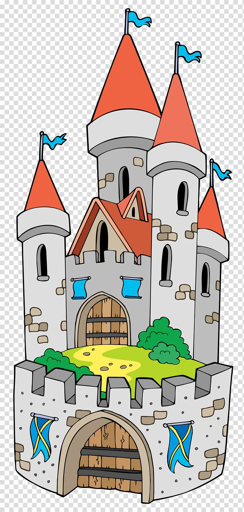 Cartoon fortification the tower. Palace clipart tall castle