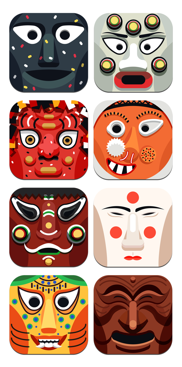Traditional mask icon by. Palace clipart temple korean