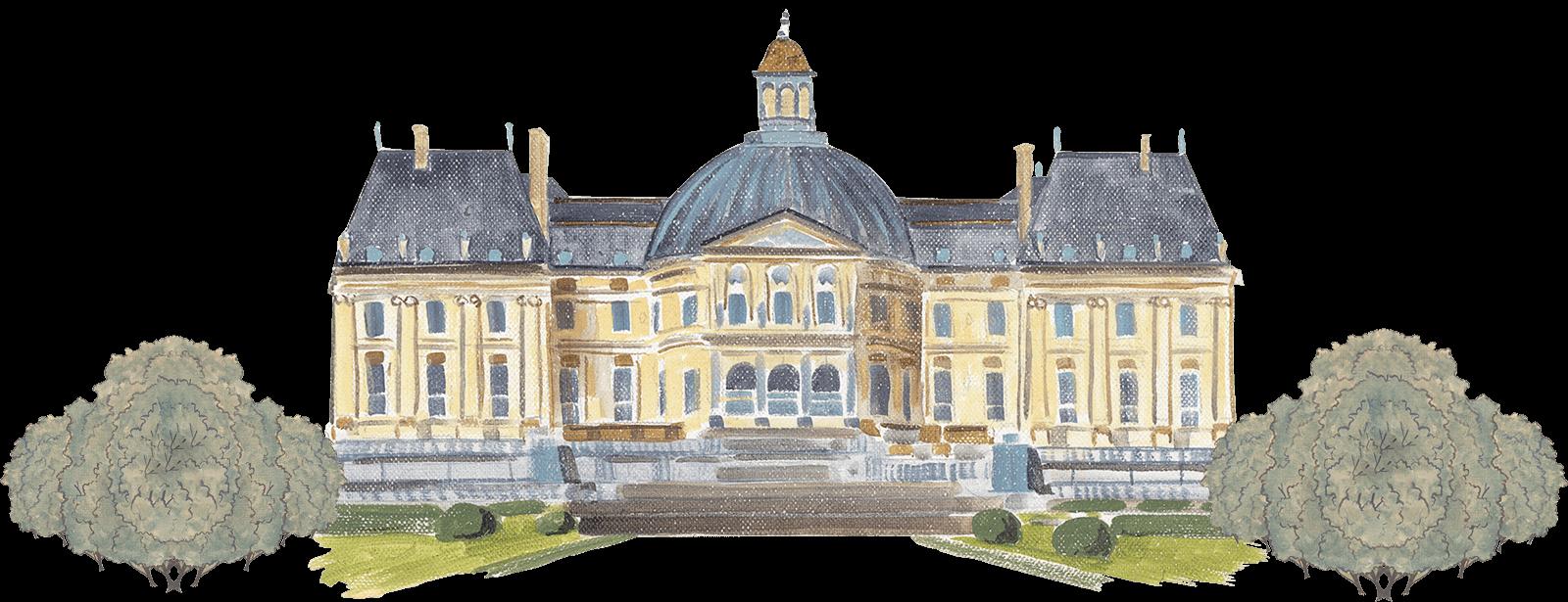 Palace clipart versailles palace. Vaux le vicomte the