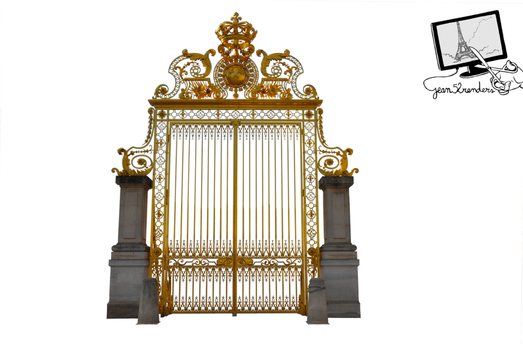 Gate castle of png. Palace clipart versailles palace