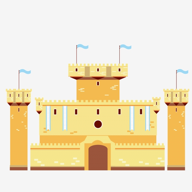 Illustration building . Palace clipart yellow castle