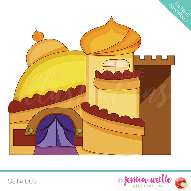 Palace clipart yellow castle. Arabian cute digital desert