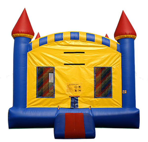 Ez inflatables jumper commercial. Palace clipart yellow castle