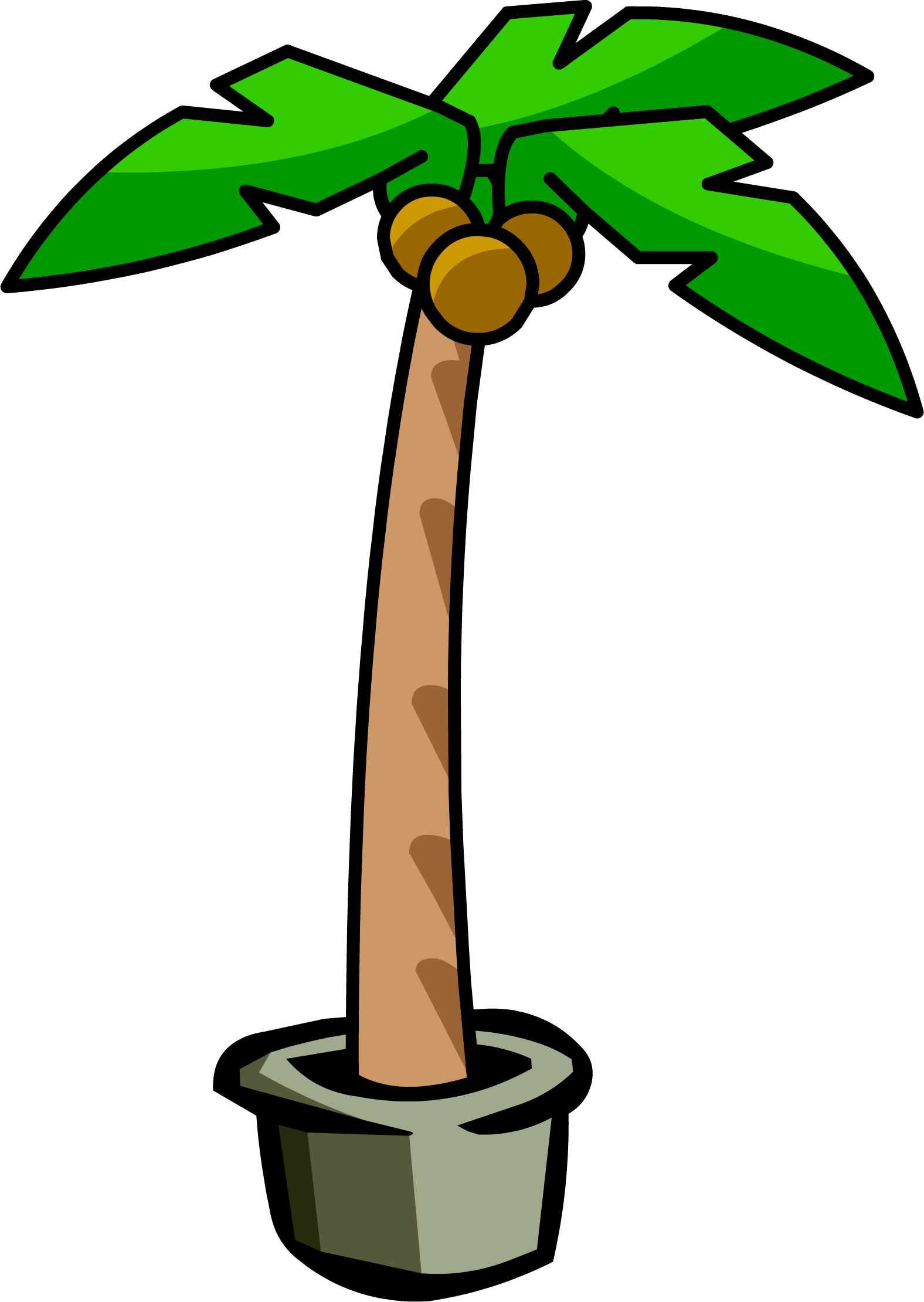 Palm clipart comic. Image tree png club