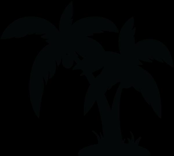Palm clip art black. Tree clipart vector