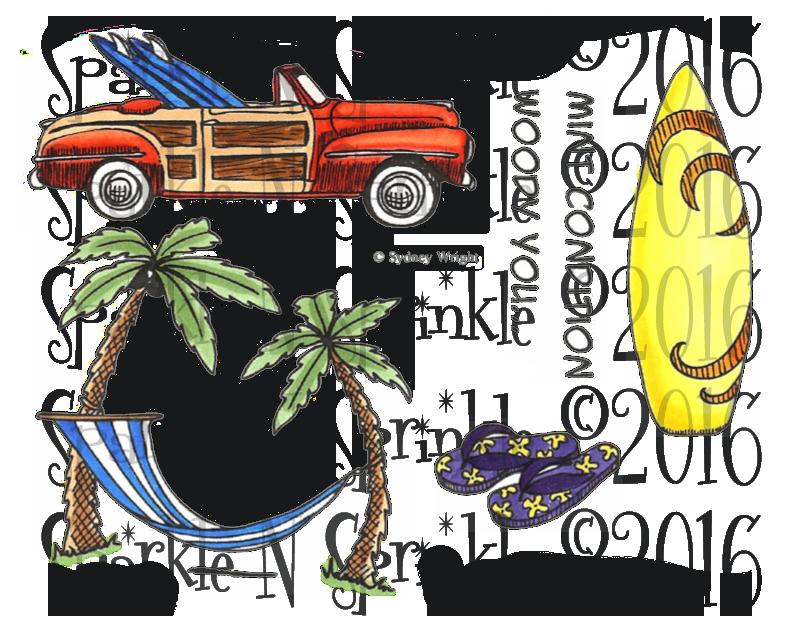 Palm clipart hammock. Digi stamp set s