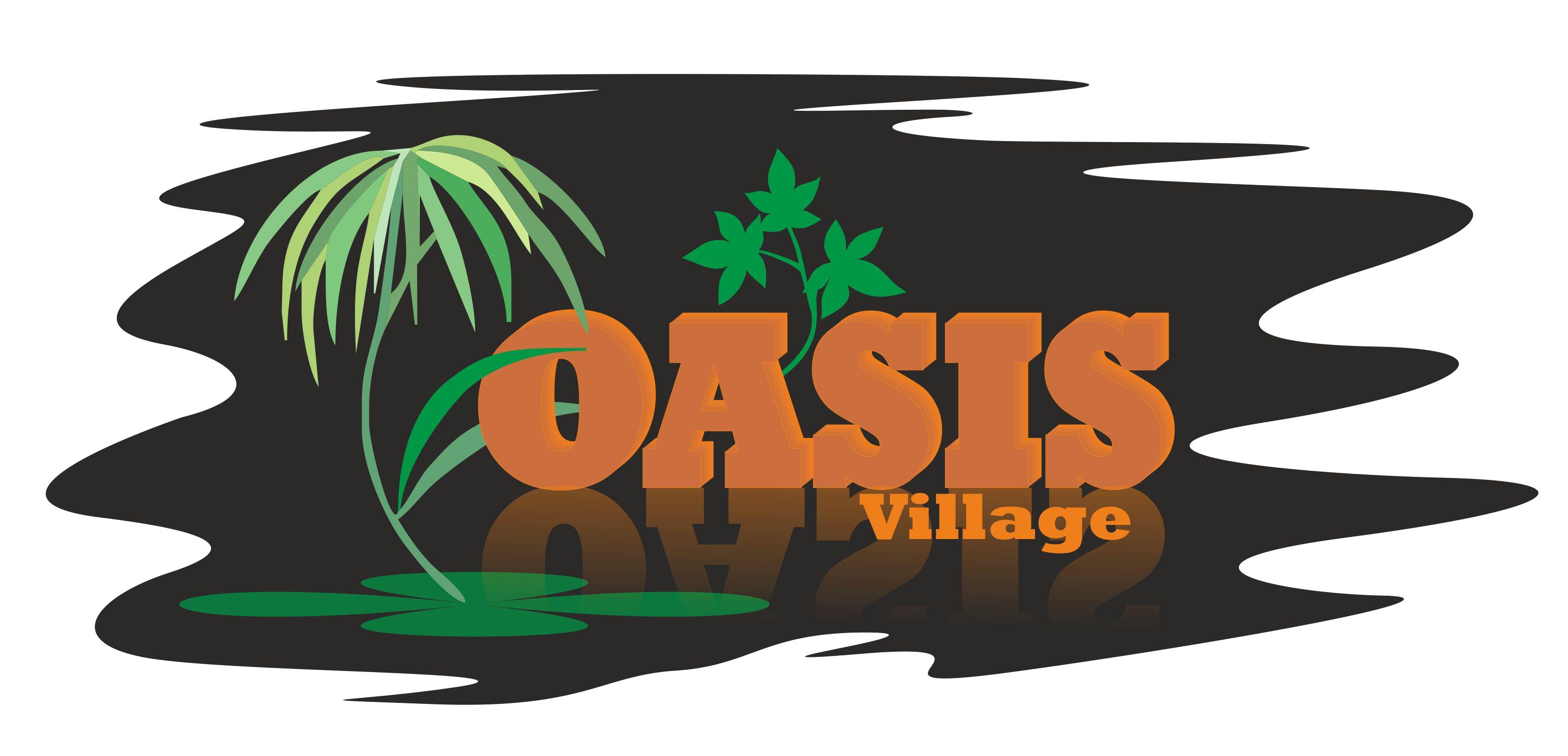 Village artev global. Palm clipart oasis