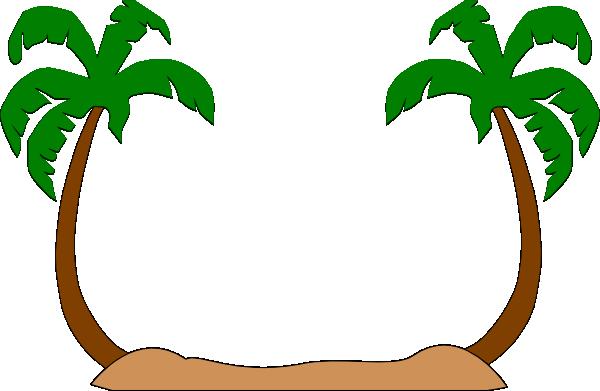 Tree silhouette beach leaf. Palm clipart pal