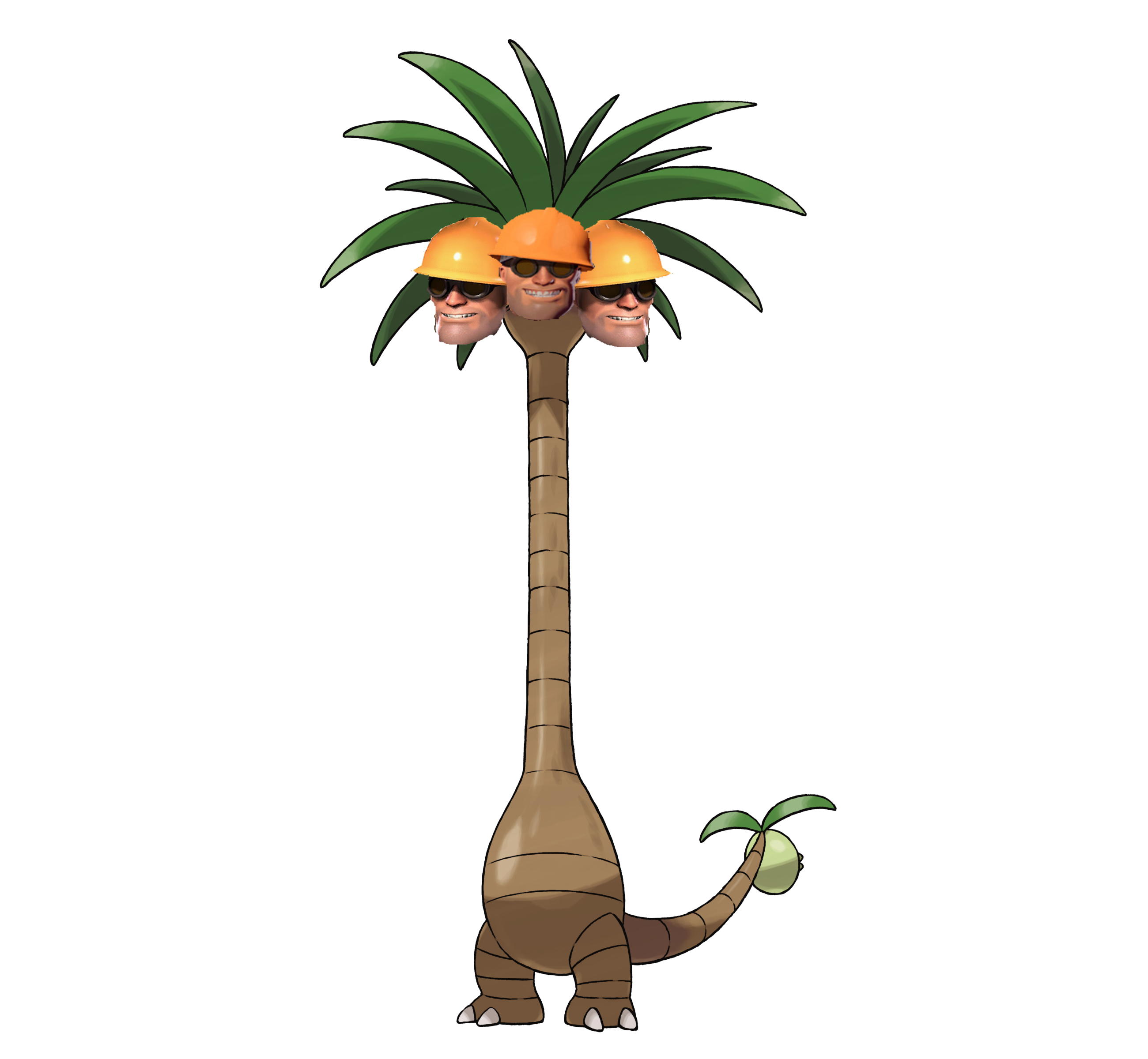 Nope alola exeggutor know. Palm clipart pineapple