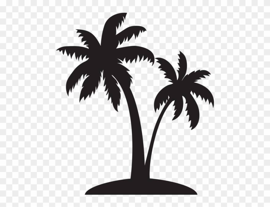 Palm clipart single. Tree silhouette clip art