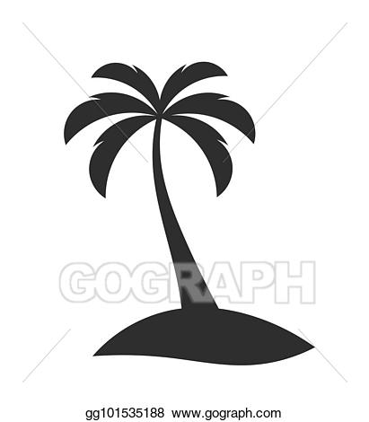 Eps vector tree on. Palm clipart single