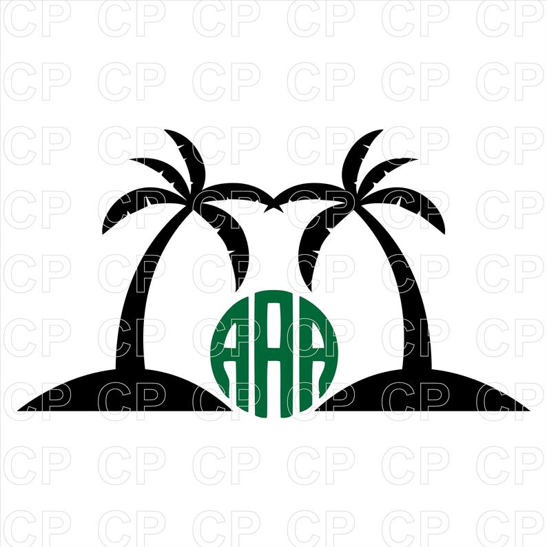 Palm clipart used. Tree svg cut files