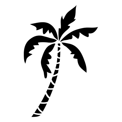 Silhouette transparent svg. Palm tree vector png