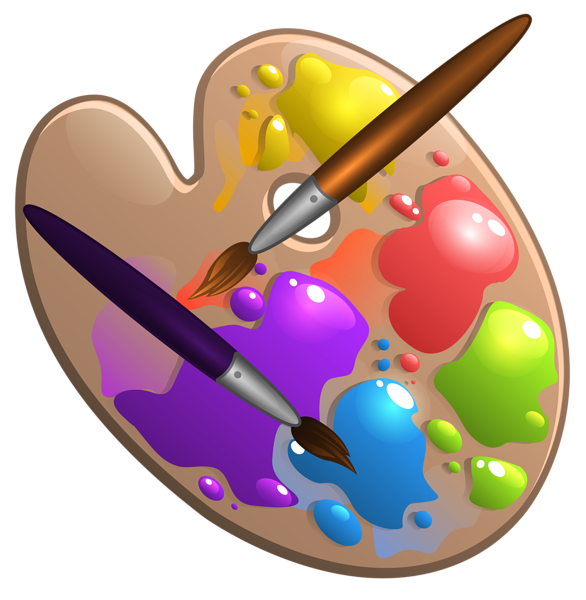 Gallery school . Pan clipart brush