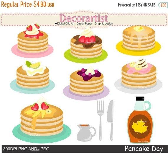 Pancake clipart. On sale pancakes party