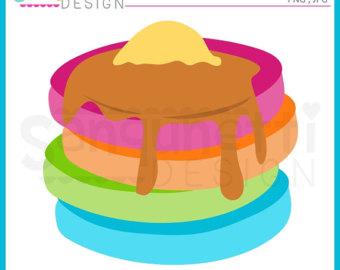 Pancake clipart. Clip art etsy breakfast