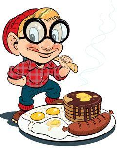 Lumberjack origin of the. Pancake clipart big breakfast