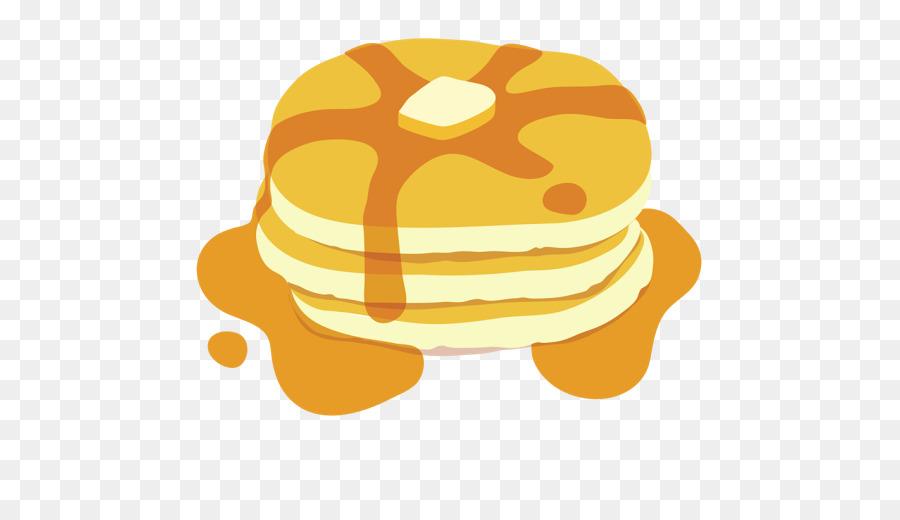 Banana breakfast illustration yellow. Pancake clipart breakfest