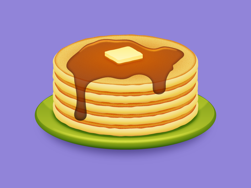 Pancake clipart full stack. Of pancakes by tim