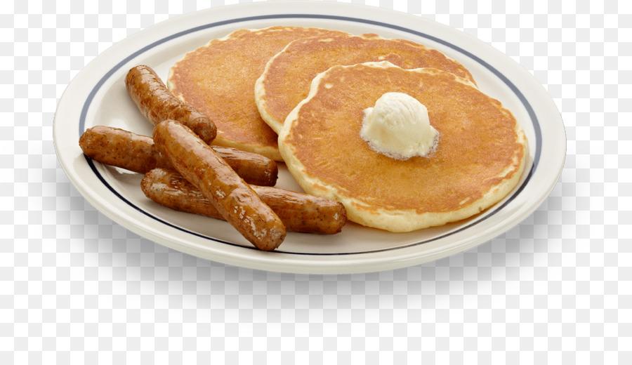 Food background bacon transparent. Pancake clipart pancake sausage