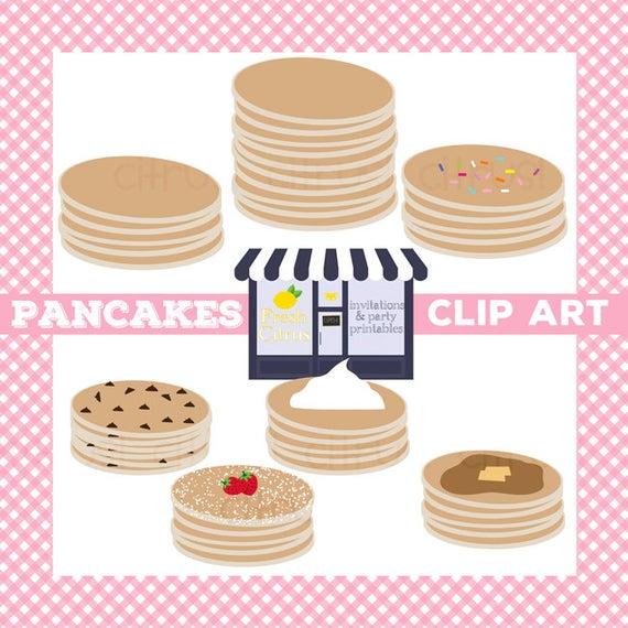 Pancake clip art slumber. Pancakes clipart plain
