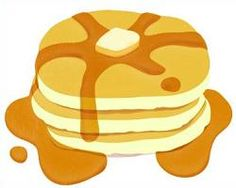 Pancakes clipart. Pancake with syrup clip