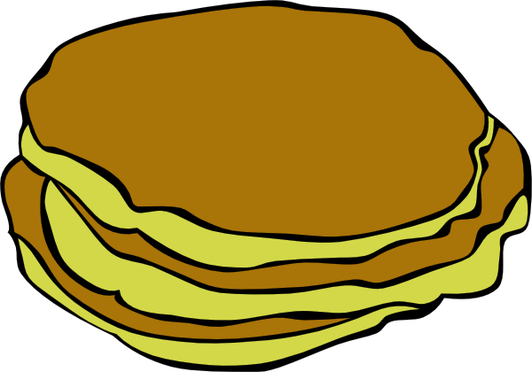 Clip art at clker. Pancakes clipart