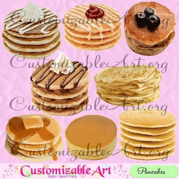 Pancake digital clip art. Pancakes clipart plain