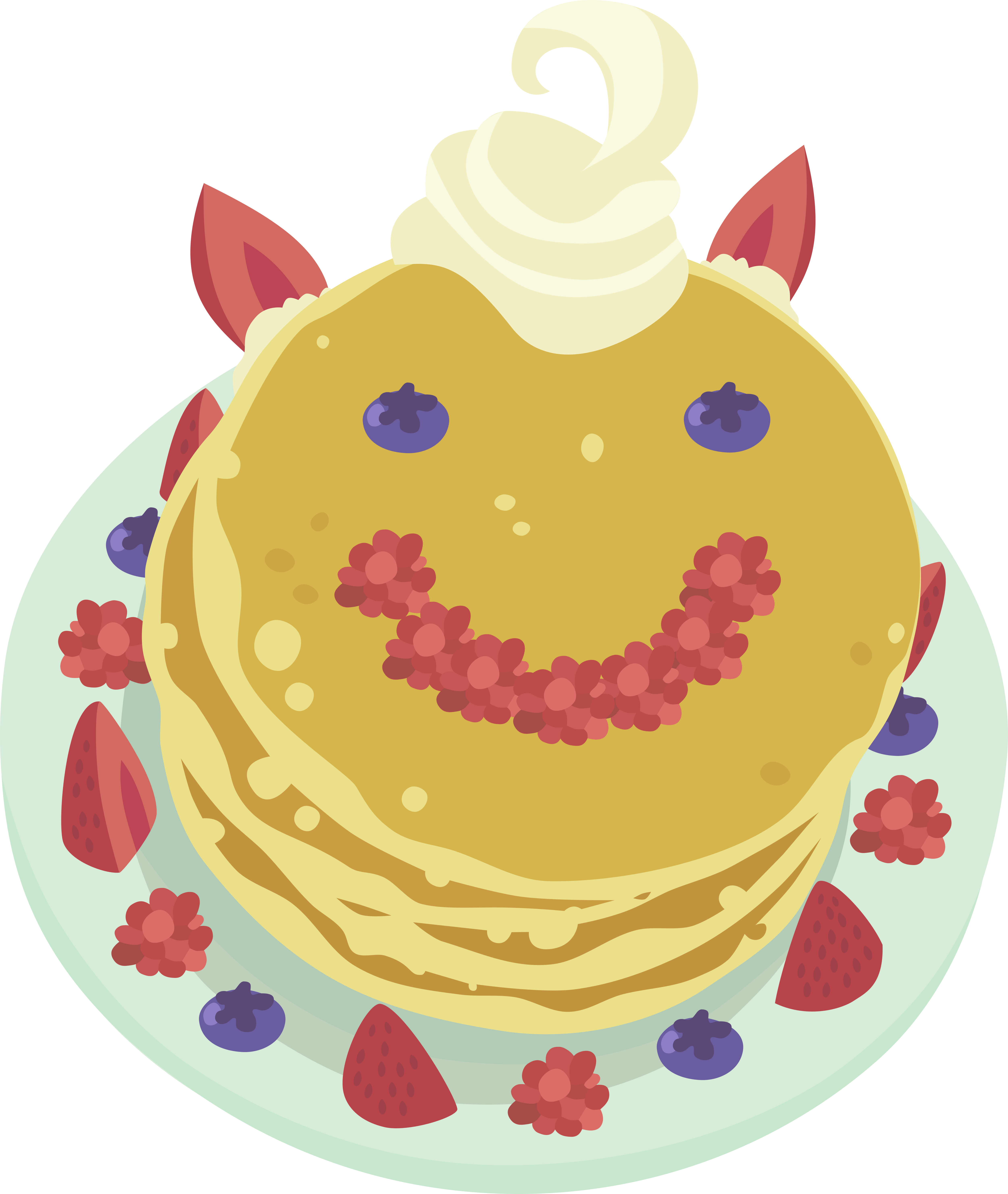 absurd res a. Pancakes clipart plain