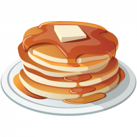 Pancake png images free. Breakfast clipart transparent background