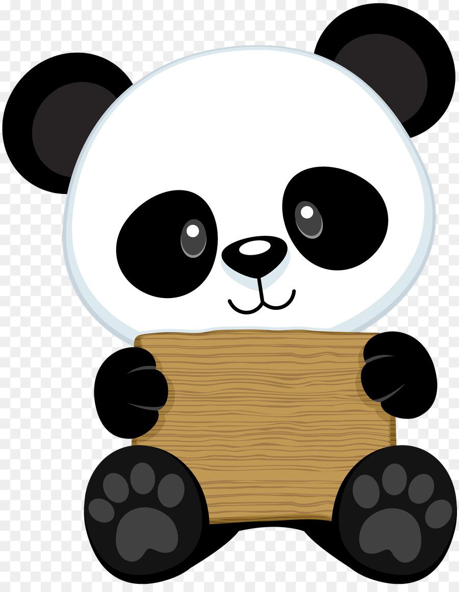 Clipart panda realistic cartoon. Giant bear drawing red