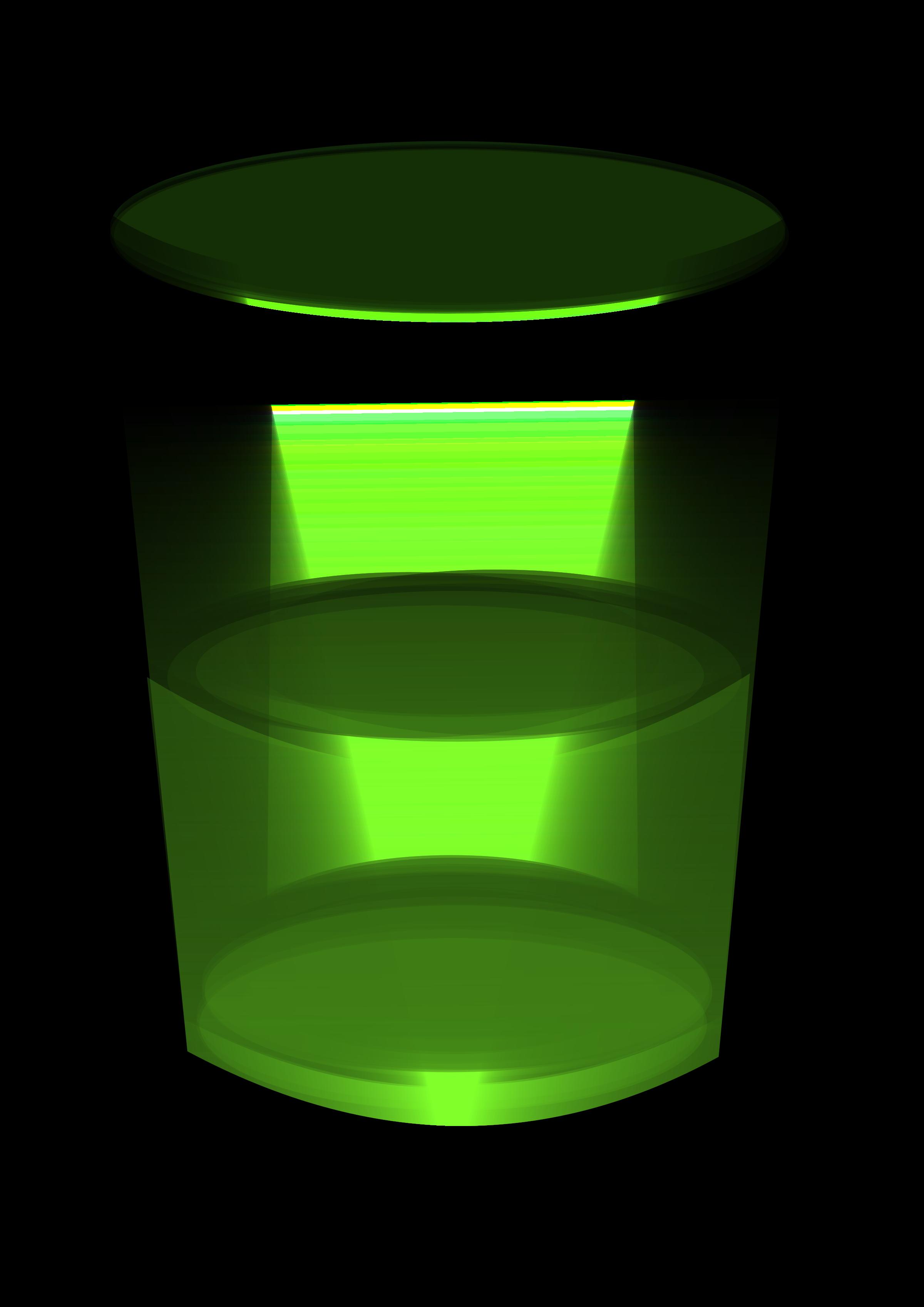 Green water big image. Shot clipart glass tumbler