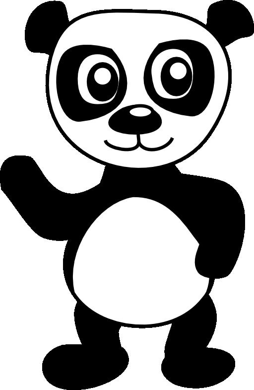 I public domain. Panda clipart royalty free