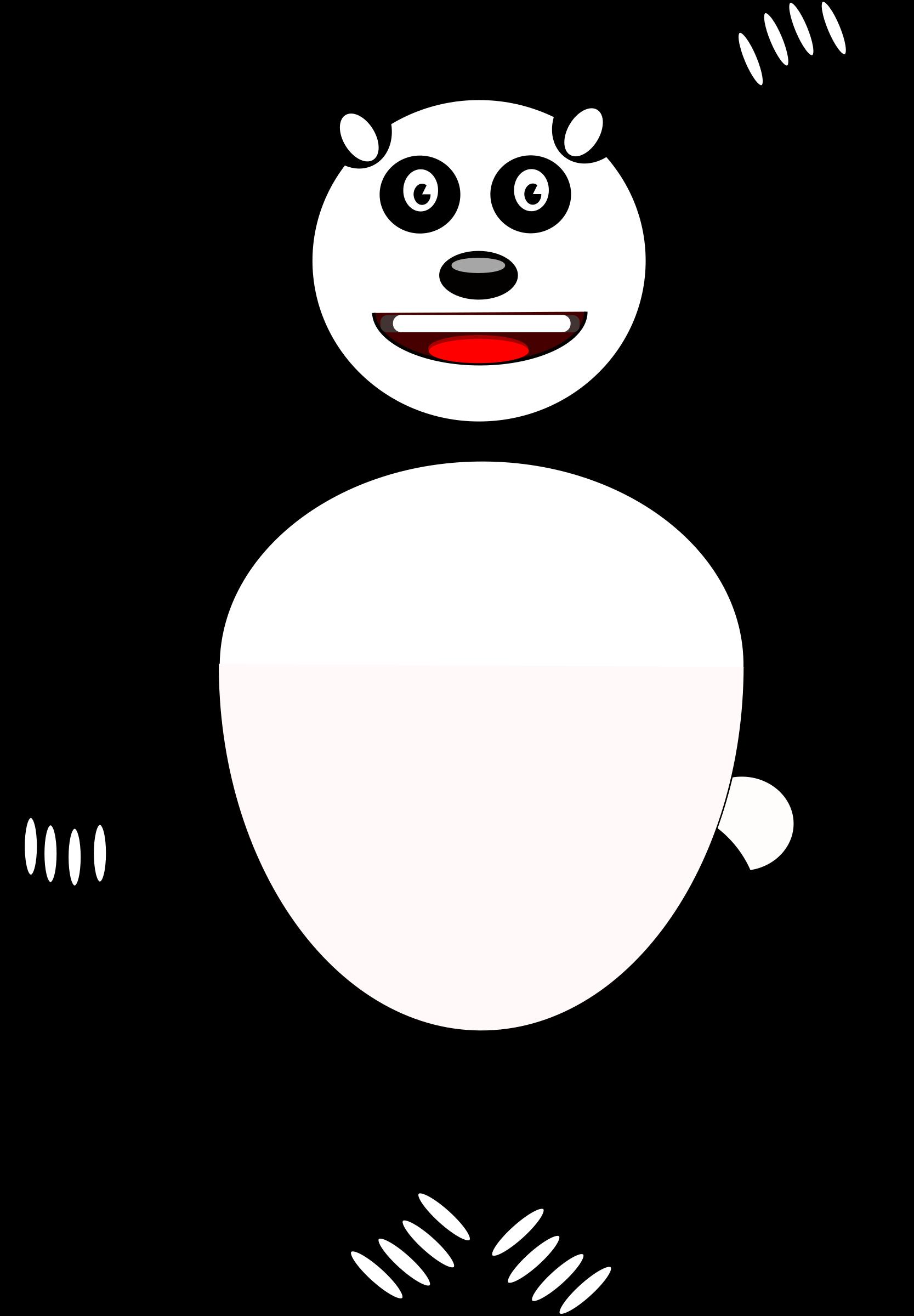Comic big image png. Panda clipart royalty free