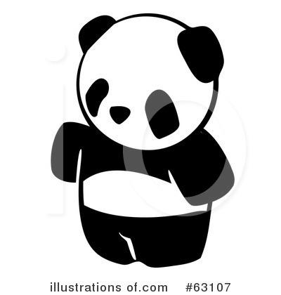 Panda clipart royalty free. Illustration by leo blanchette