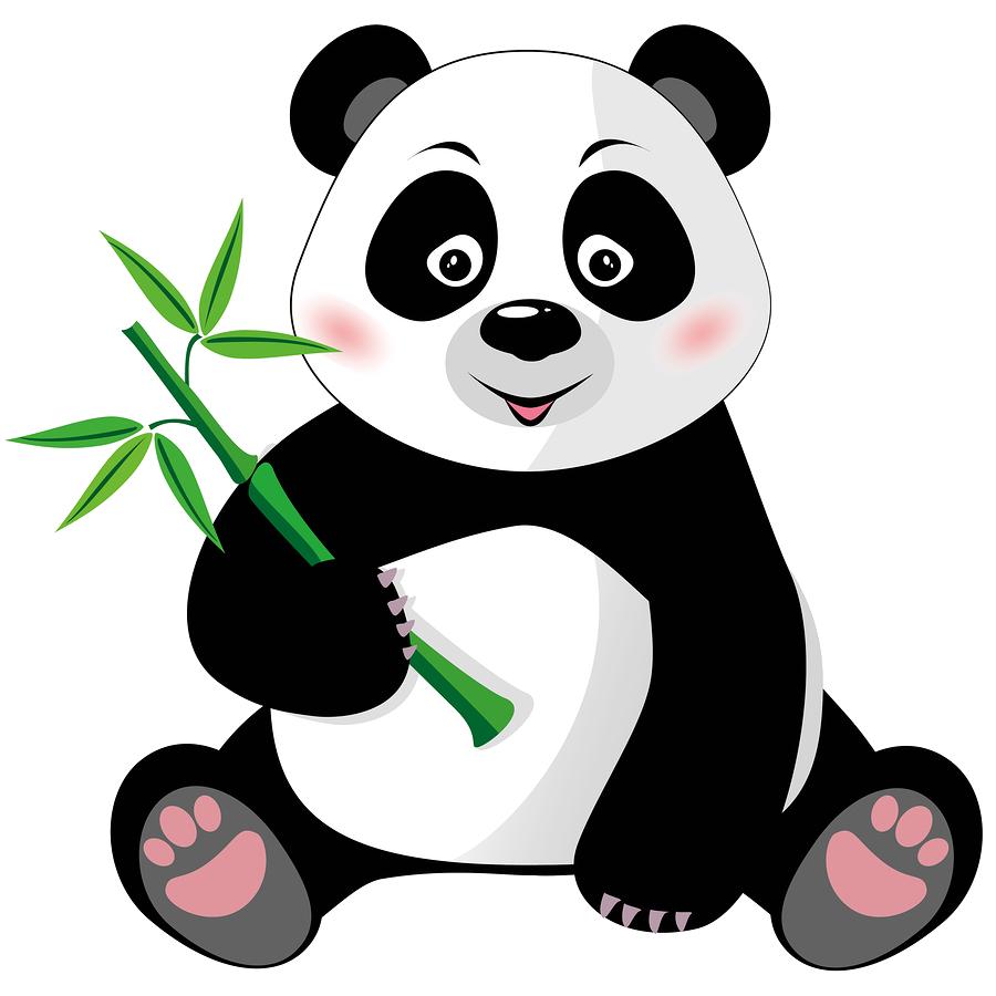 Giant cartoon clip art. Panda clipart royalty free