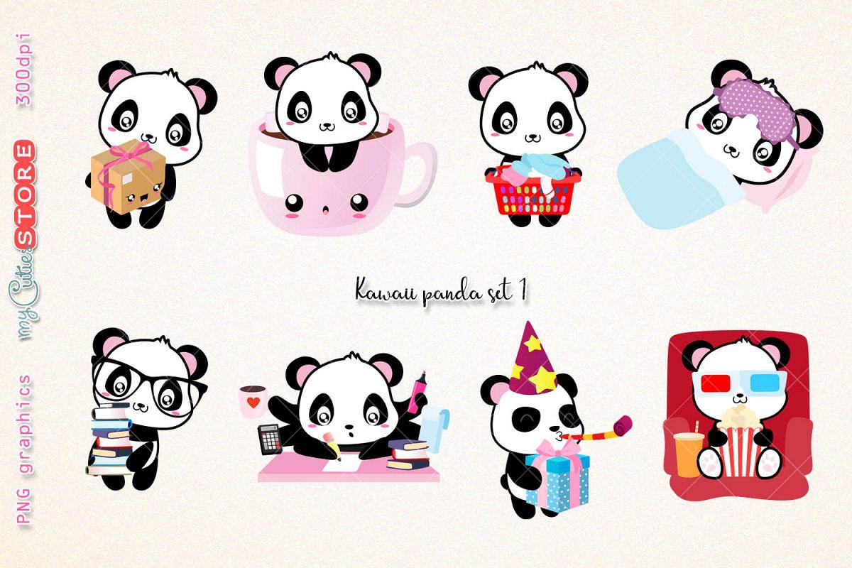 Collection of panda png. Scrapbook clipart pandas