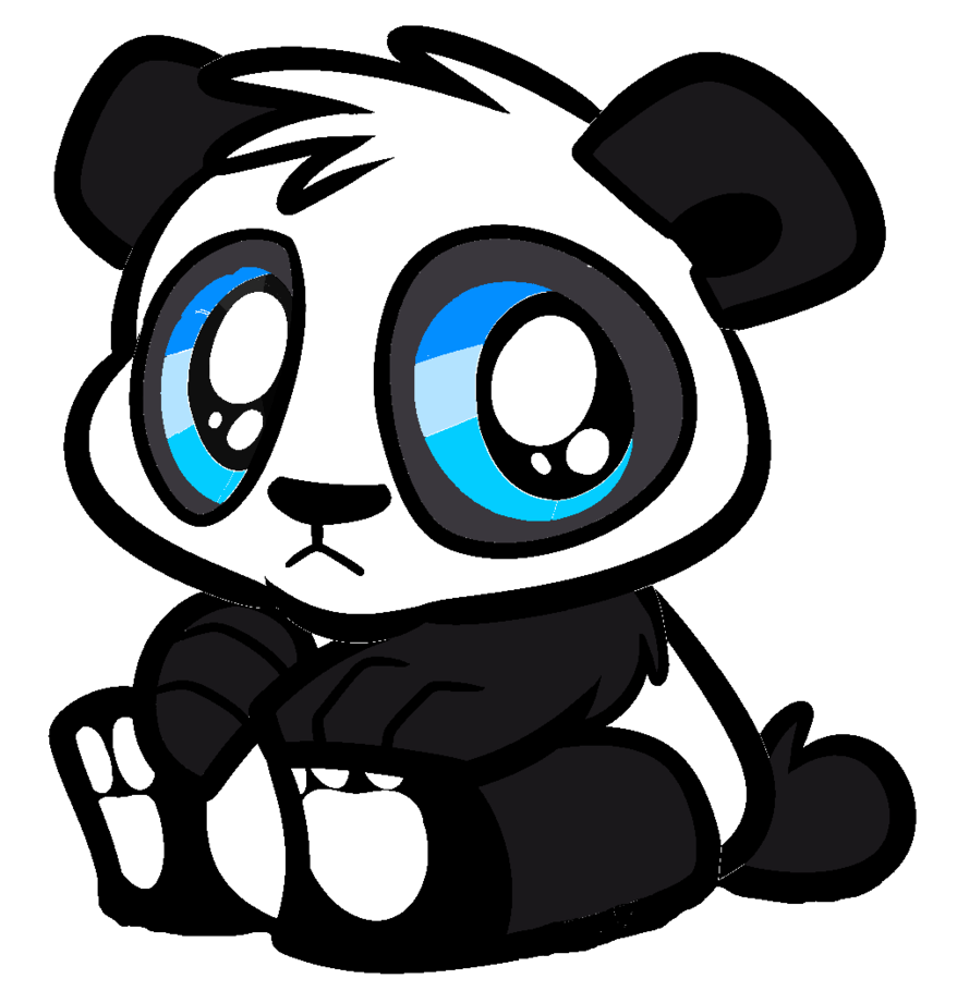 Panda clipart tare panda. Anime drawing at getdrawings