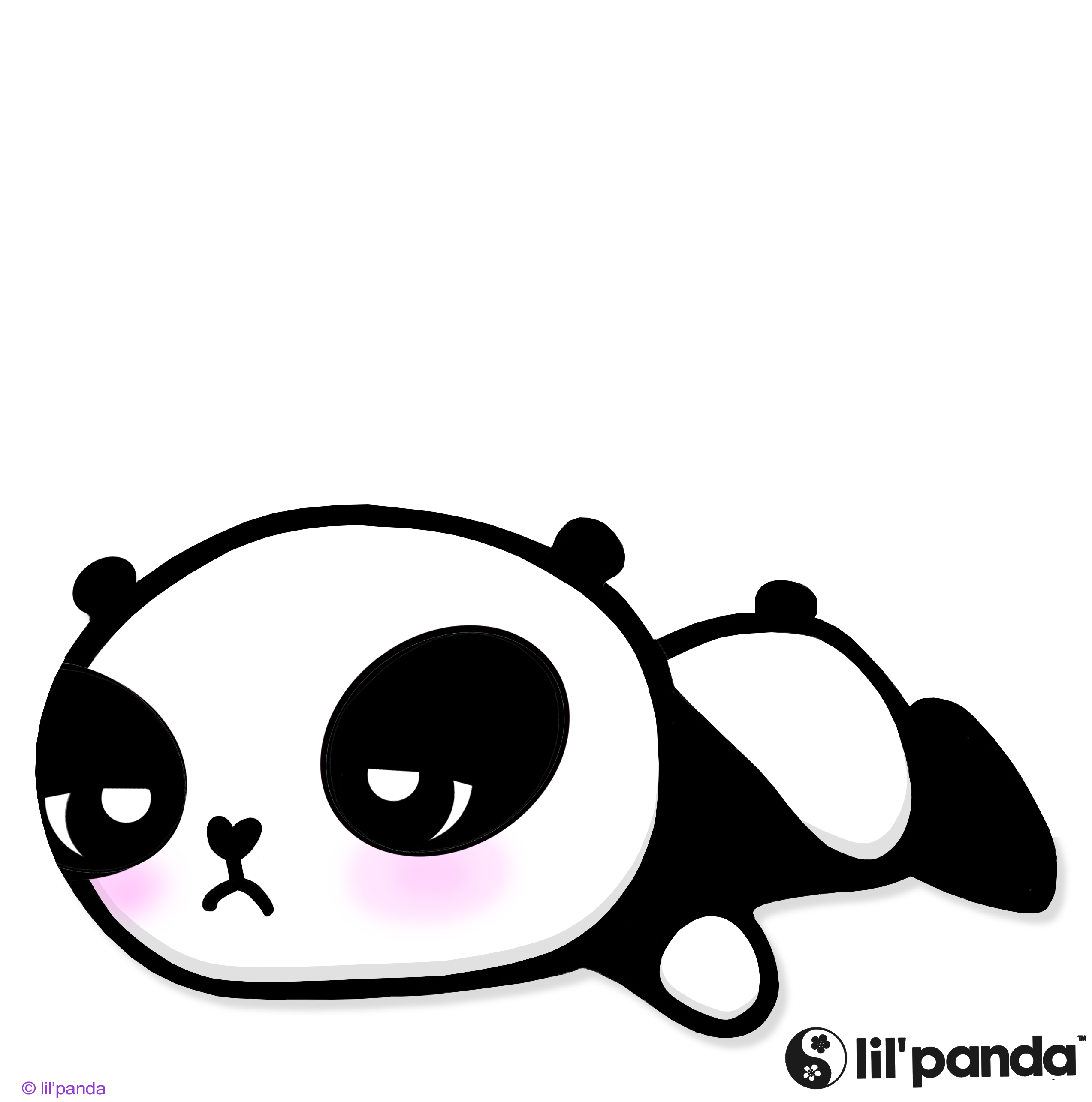 Panda clipart tare panda. Sleepy cute snoopy lil