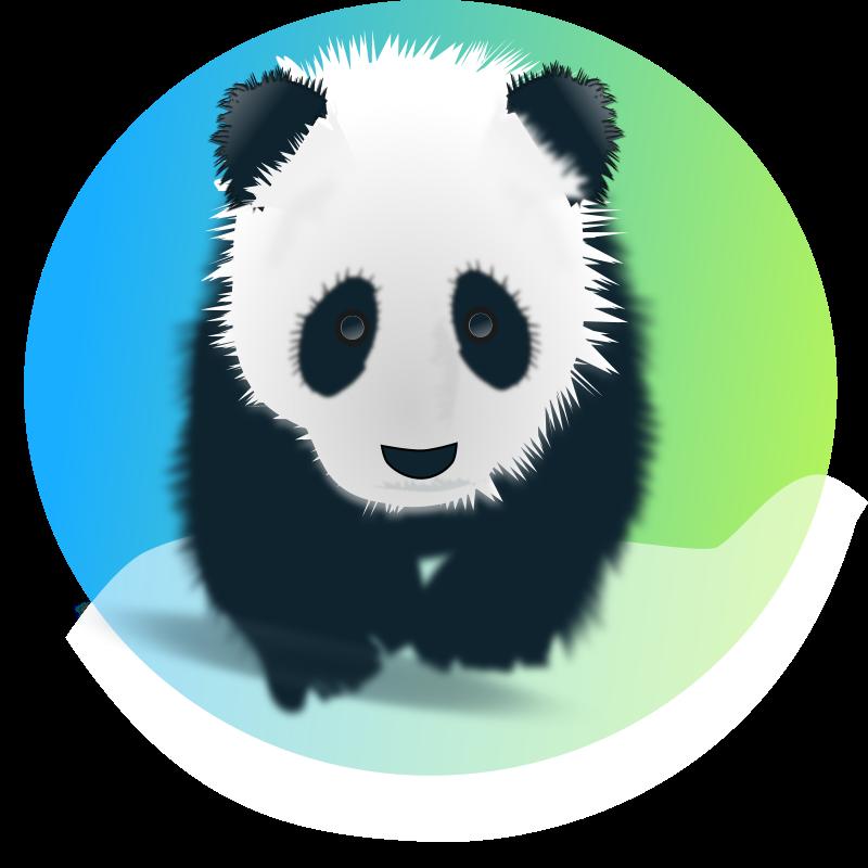 Panda clipart vector. Save the pandas medium