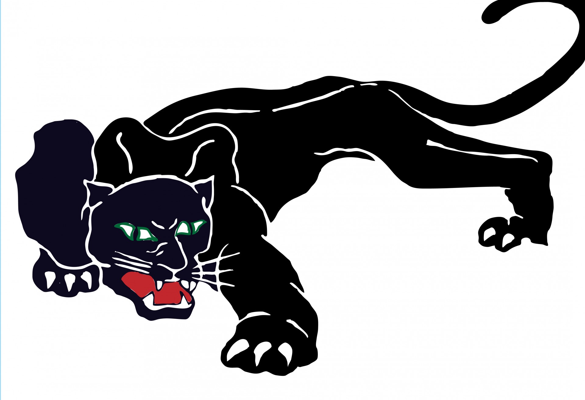 Panther clipart. Black free stock photo