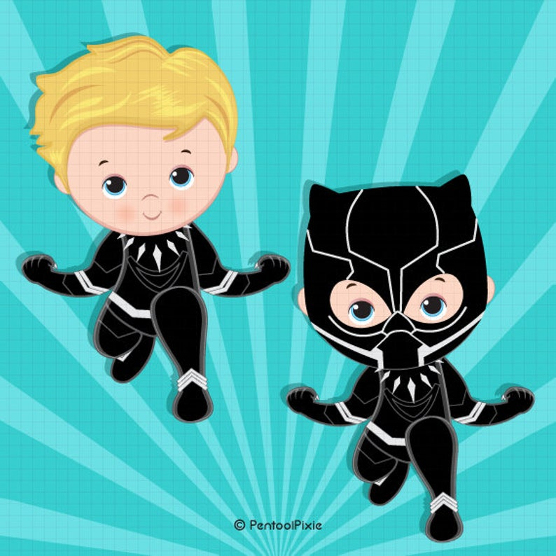 Panther clipart baby panther. Black superhero boy costume