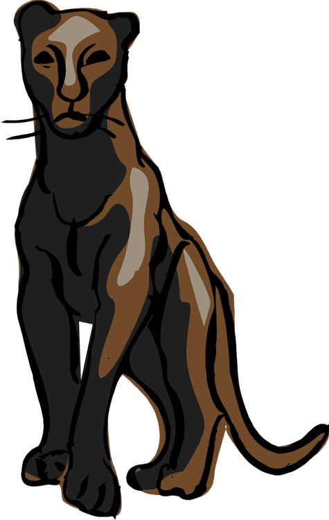 Panther clipart cute.  collection of png