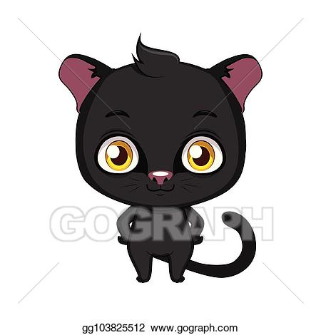 Panther clipart cute. Vector art stylized cartoon