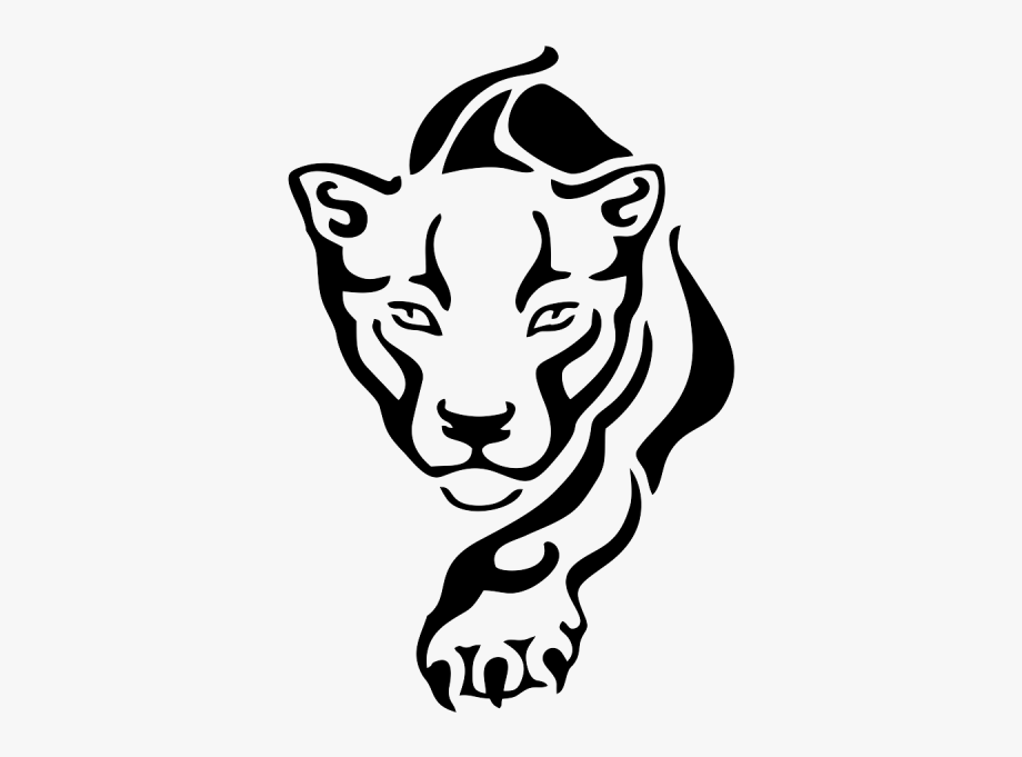 Panther clipart easy. Black drawing animal free