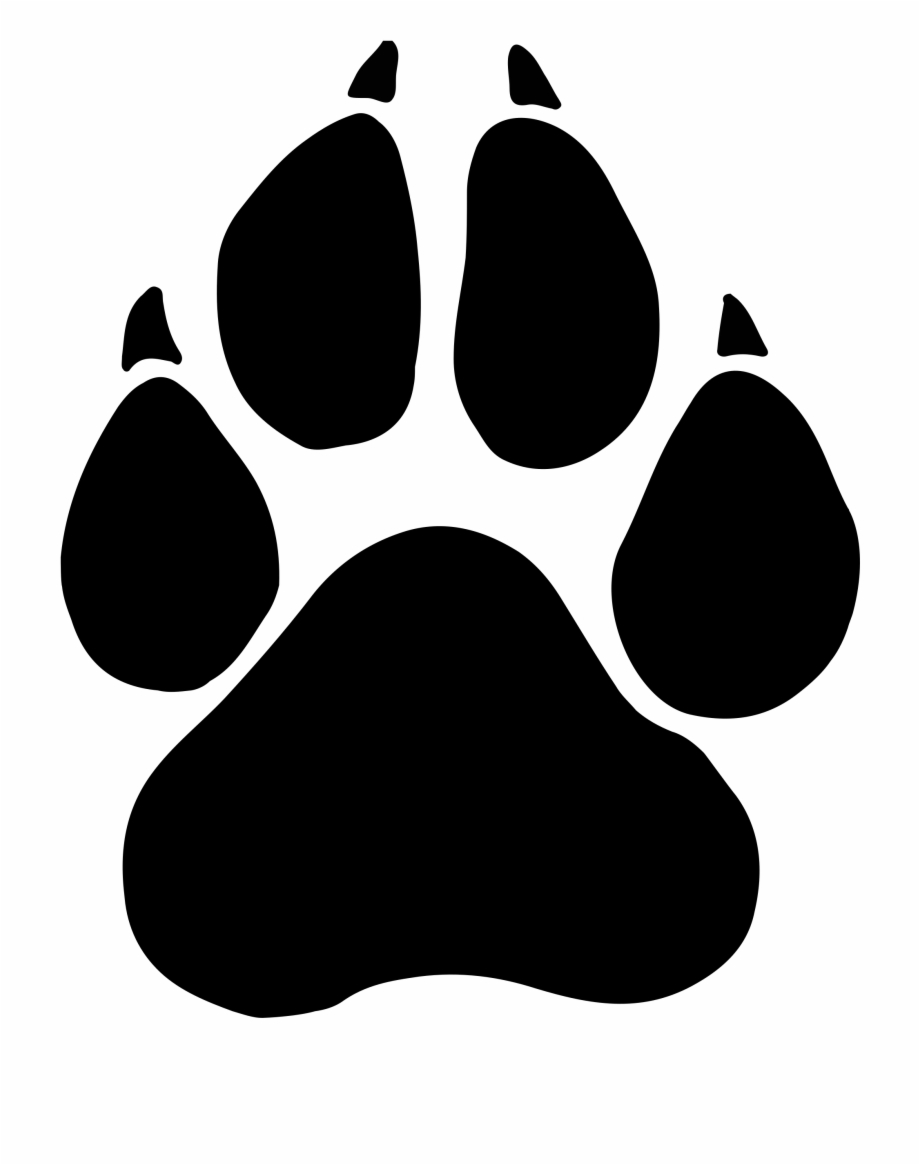 Pawprint clipart panther. Collection of free svg