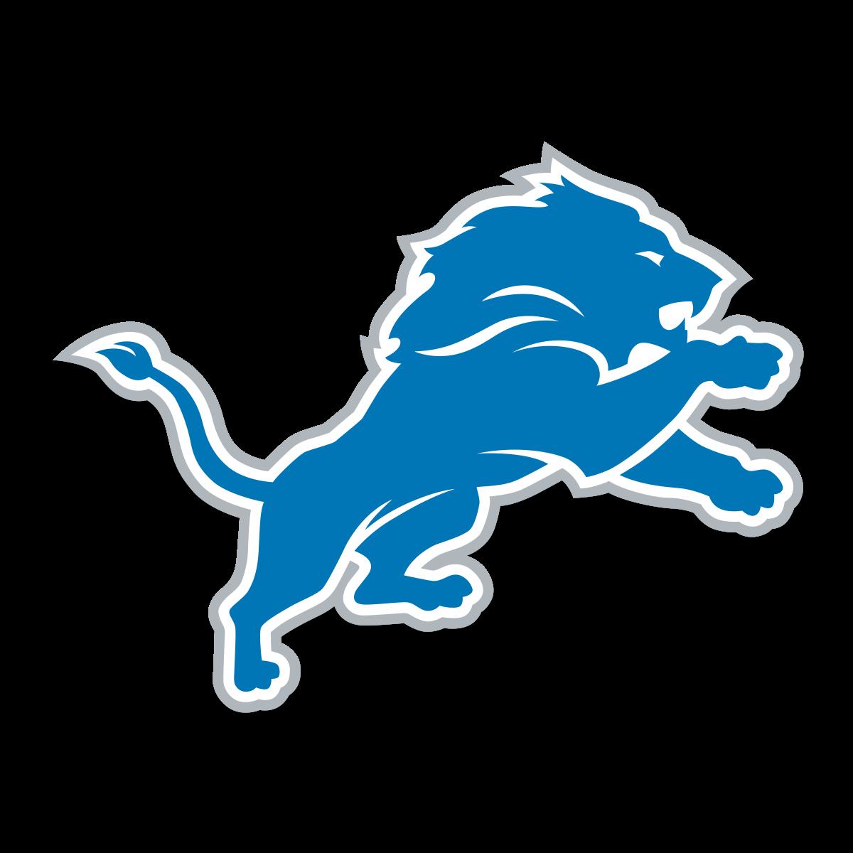 Detroit lions set new. Panther clipart nfl