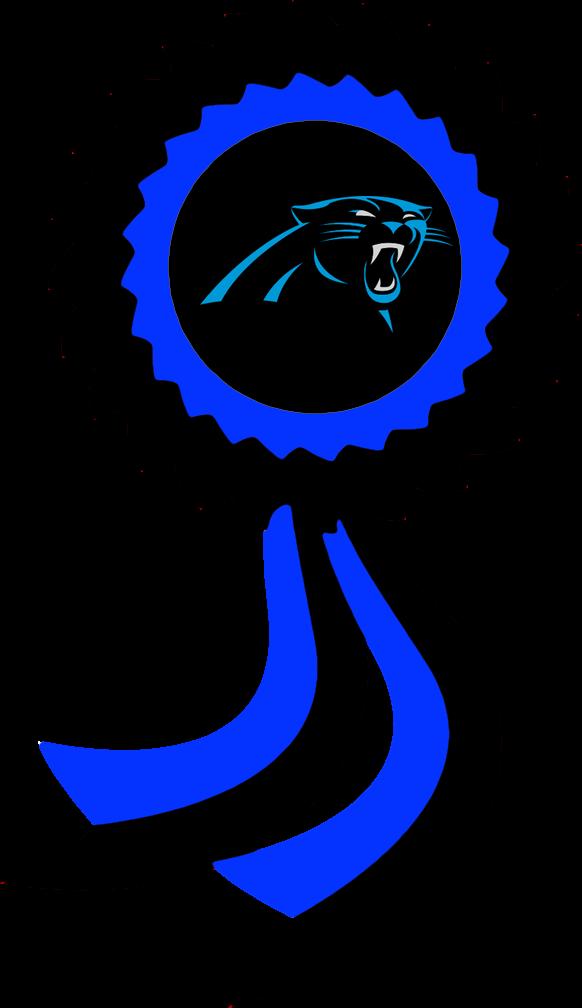 Panther clipart nfl. Carolina panthers ribbon by